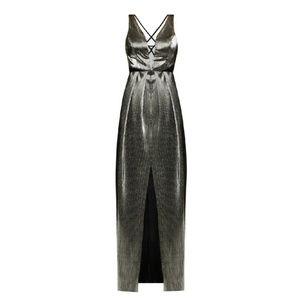 BCBGeneration Metallic Maxi Gown Size 0 NWT